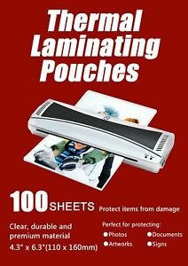 Halcent 4 x6 Thermal Laminating Pouches 3 Mil Thermal Laminator Pouches She