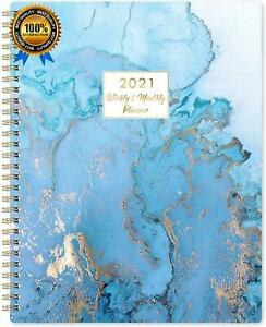 2021 Planner Weekly Monthly Planner With Tabs 8 X 10 Jan Dec 2021 T