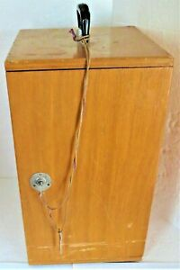 Vintage Bristoline Wooden Microscope Case With 2 Keys