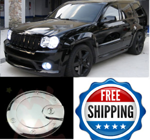 For 2005 2007 2008 2009 2010 Jeep Grand Cherokee Chrome Fuel Gas Cap Door Cover