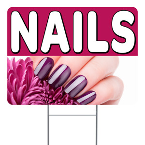 Nails 18x24 Inch Sign With Display Options