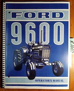 Ford 9600 Tractor 1972 1976 Owner s Operator s Manual Se 3378 107210 42860010