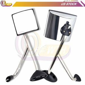 Chrome Hood Mirrors For 2008 2017 International Harvester Prostar Tractor Truck
