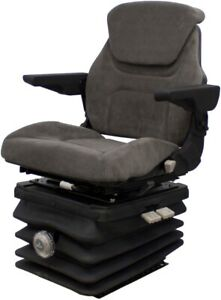 Pilot Brand Gray Fabric Seat With Mechanical Suspension For Multiple Uses