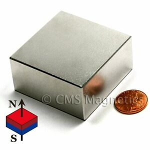Super Strong Neodymium Magnet Block N50 2 X 2 X 1 Rare Earth Magnet 1 Pc
