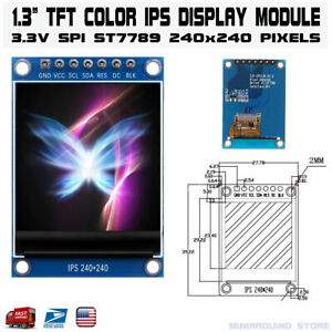 1 3 Inch Color Ips Tft Lcd Display Screen Module St7789 7 Pin 4 Wire Spi Port