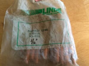 Linde P n 633110 1 16 Contact Tube For Linde St 23a Welding Spool on Gun Pkg 29