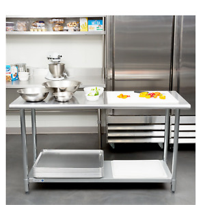 24 X 60 Adjustable Stainless Steel Work Table Working Tool Restaurant Kitchen