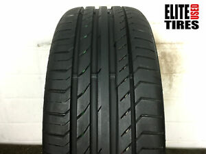 Continental Contisportcontact 5 Ssr Run Flat Moe 225 40 19 Tire Driven Once