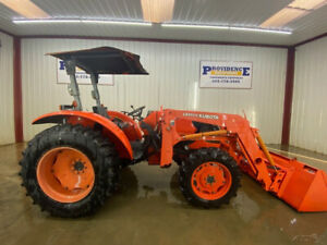 2010 Kubota M5640 Oprops With Over Head Canopy