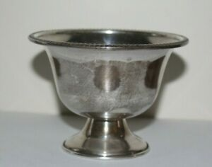 National Sterling Silver Bowl Dish Small Pedestal Footed 62g