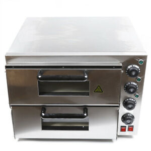 Used Electric Pizza Oven Cooker Pizza Drawer Ceramic Stone Toaster Baker 3000w
