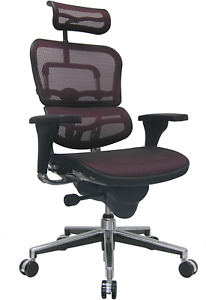Eurotech Seating Ergohuman High Back Mesh Managers Chair Plum Red