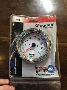 Equus Tachometer Gauge 5078 5000 Series 0 To 8000 Rpm 3 3 8 Electric Not Used