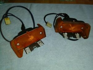 Pair Of 1964 Pontiac Gto Front Turnsignals Very Nice Housings Lenses