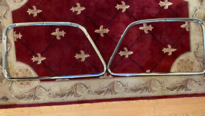 1947 1950 Chevy Gmc Truck Stainless Window Garnish Moldings Original Gm Polished