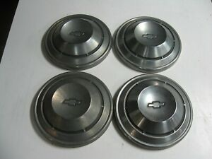 1968 1969 1970 Camaro Nova Chevelle Base Model Dog Dish Hubcaps Set Of 4