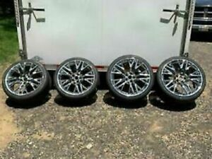 2016 Corvette Z06 Chrome Wheels Tire New Takeoff Package 19 20 Nito Invo