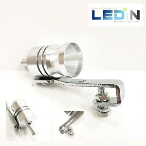 1x Turbo Sound Whistle Simulator Muffler Silver Exhaust Pipe Whistler 2 25 Sm