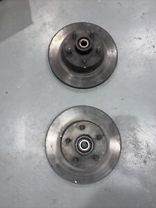 1969 1970 Ford Mustang Boss Shelby Mach 1 Front Rotors And Bearings Pair