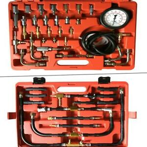 Manometer Fuel Injection Pump Pressure Injector Tester Test Gauge Kit 0 140 Psi