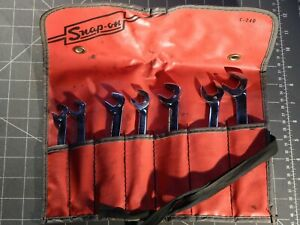 Snap On Metric 7pc 4 Way Angle Head Open End Wrench Set 10mm 17mm Vsm Pouch