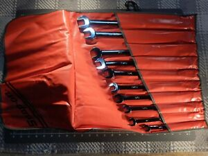 Snap On Tools 10pc Sae Long Combination Wrench Set 7 16 1 12pt Oexl Oexl32b