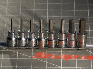 Snap On Tools Sae 8pc 3 8 Drive Hex Allen Socket Driver Set 1 8 3 8 Fa Dr
