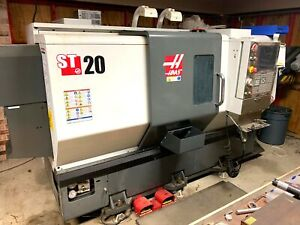 Haas St 20 Cnc Lathe 2014 Parts Catcher Probing Tailstock Low Hours Tooli