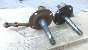 1937 1941 Ford Front Spindles Original Pair Coupe Sedan Pickup Custom Round Back