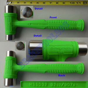 New Snap On Green Dual Face Drilling Dead Blow Hammer 32oz Hssd32 Made In Usa