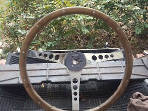 Vintage Superior 500 Wood Steering Wheel 15