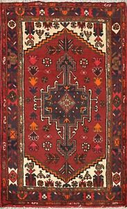 3x5 Hand Knotted Geometric Tribal Area Rug Classic Oriental Wool Kitchen Carpet