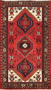 Vintage Geometric Tribal Hand Knotted Wool Area Rug Classic Oriental Carpet 3x5