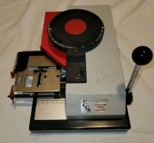 Ccs 300 Plastic Card Embosser Financial And Healthcare Format 11 Lines