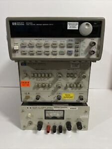 Hp Hewlett Packard 33120a 8011a 6201b Waveform Pulse Generator Power As Is