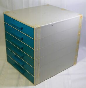 Vintage Plastic 6 Drawer Storage Cabinet Electronic Parts Hardware Crafts Tools
