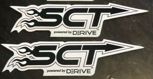 2 Sct Racing Decals Stickers Drags Rally Nhra Nmra Diesel Pulling Imsa Drifting