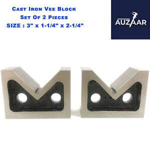 Pair Of Cast Iron Vee Blocks 3 Inch Parallels Measuring Tools V Block