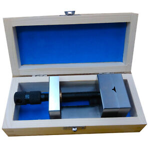 2 3 8 60mm Toolmakers Grinding Vise Precision Machine Vice With Wooden Box