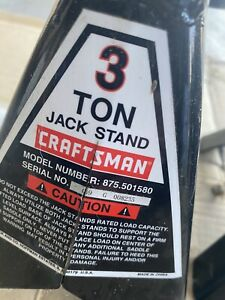 6000 Lb 3 Ton Jack Stands Pair Car Truck Lift Tire Change Lifting Used Only Once