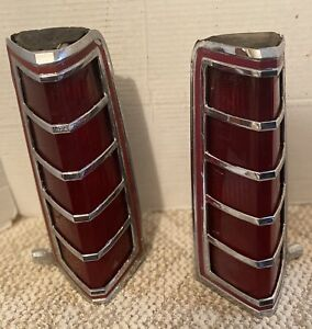 1977 1978 1979 Lincoln Continental Mark V Lh Rh Taillight Assemblies Oem Used
