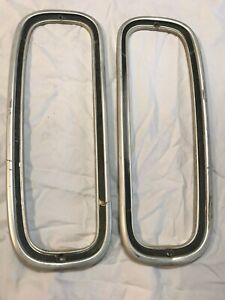 75 91 Ford Econoline Rear Tail Light Trim Bezels Xlt Van Custom E150 E250 Used