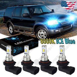 For Ford Expedition 2003 2006 Explorer 2002 05 Led Headlight Bulbs 9005 9006 Yhl