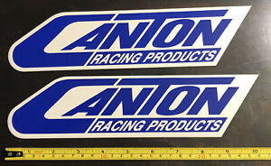2 Canton Racing Decals Stickers Drags Offroad Nhra Hotrods Arca Pulling Outlaws