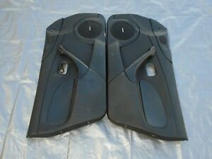 01 05 Mazda Mx 5 Miata Oem Rh lh Pair Side Door Trim Panel Card Black