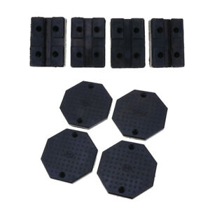 8 In 1 Auto Lift rolling Jack Rubber Block Pad Adapter Set Octagon square