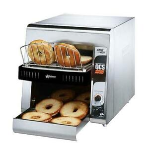 Star Qcs1 500b Fast Compact Bagel Conveyor Toaster With 1 1 2 In Opening