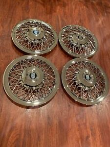 Set Of 1970 1996 Fits Mercury Grand Marquis Wire 15 Hubcaps Wheelcovers