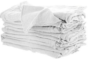 2500 Pieces Industrial Shop Rags Cleaning Towels White